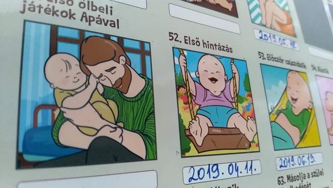 Kaparós plakát a baba első élményeiről