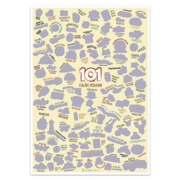 101 családi program - kaparós plakát