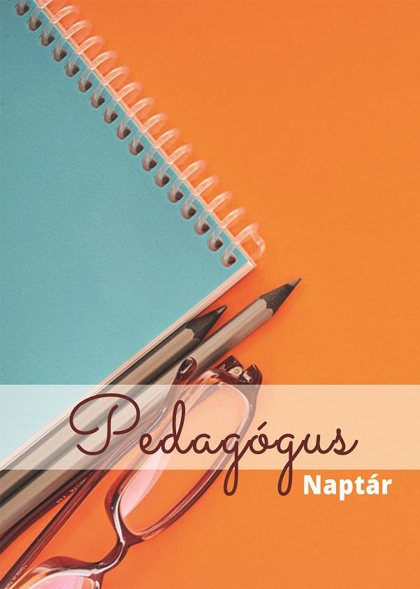 Borító - Pedagógus naplóhoz - Kék és Narancssárga