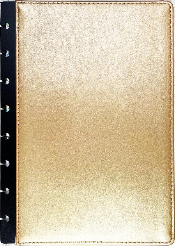 Arany műbőr borító A5 méretben