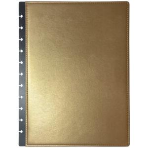 A4 arany műbőr borító füzet napló gördülő korong füzet napló