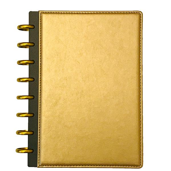 A5 füzet arany műbőr borítóval