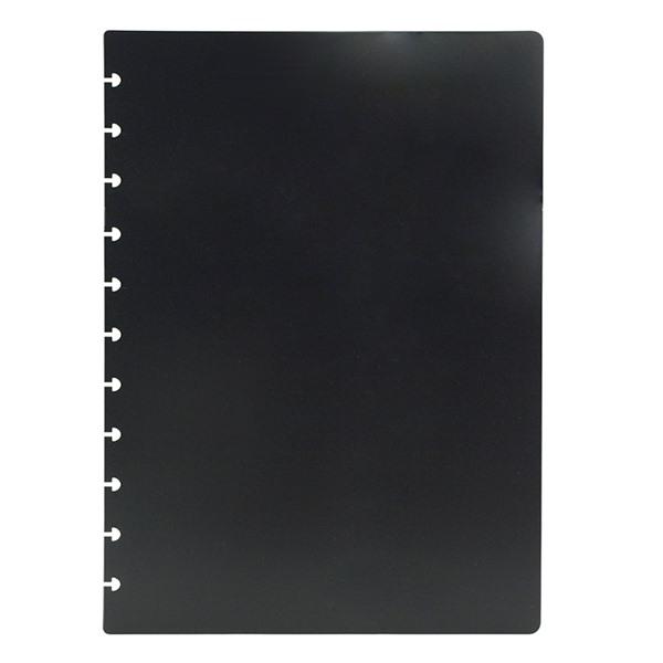 Fekete műanyag borító A4