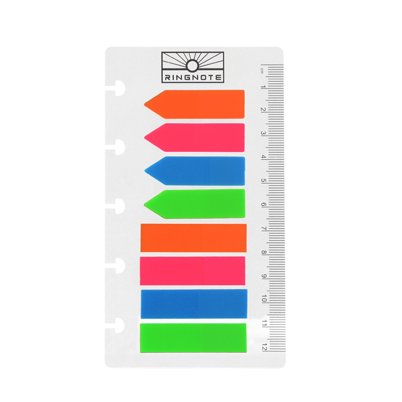 Lefűzhető vonalzós postit DIY gördülő korongos naptárhoz