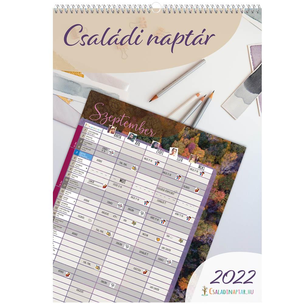 Családi naptár 2022 tervező szülőknek és gyerekeknek