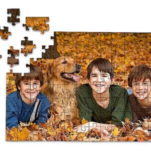 Egyedi fotó mágneses puzzle kirakó ajándék A4 és A5 méretben